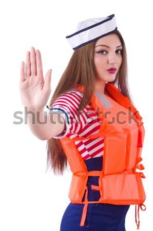 Female stewardess tied with rope Stock photo © Elnur