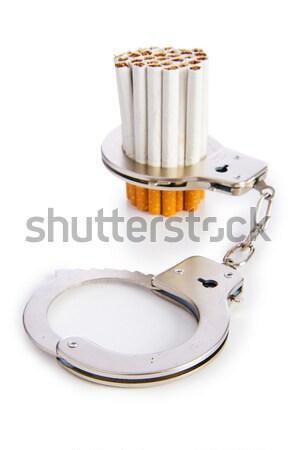 сигареты наручники аннотация знак группа курение Сток-фото © Elnur