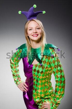 Genç kız aziz kutlama kadın kız yeşil Stok fotoğraf © Elnur