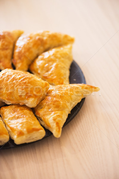 Patties stuffed with meat in the plate Stock photo © Elnur