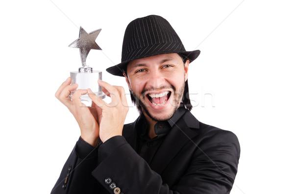 Imprenditore star premio isolato bianco sport Foto d'archivio © Elnur
