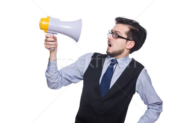 Jonge zakenman luidspreker witte business man Stockfoto © Elnur