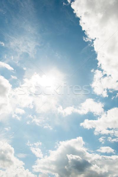 Cloudscape of bright blue sky Stock photo © Elnur