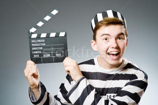 Funny więzienia więzień film policji sprawiedliwości Zdjęcia stock © Elnur