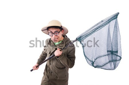 Scary monster with scythe isolated on white Stock photo © Elnur