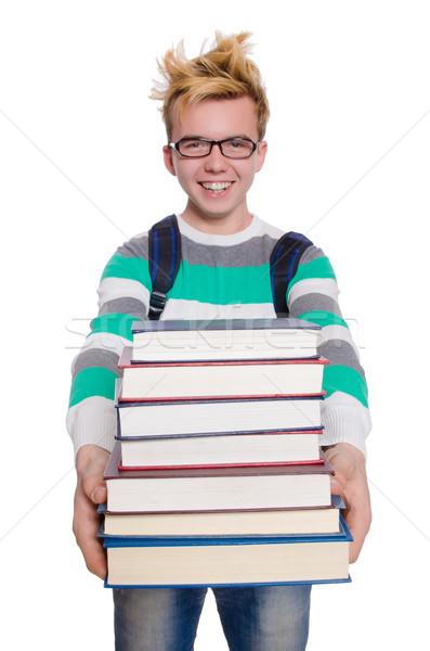 Funny student książek książki szkoły Zdjęcia stock © Elnur