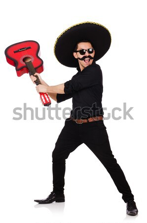 Grappig Mexicaanse sombrero hoed hand man Stockfoto © Elnur