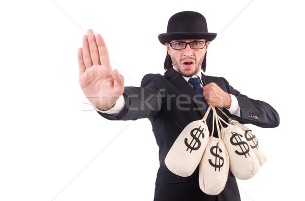 Homem dinheiro isolado homem branco branco negócio Foto stock © Elnur