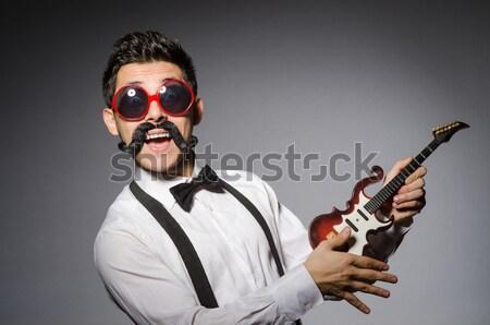 Vicces katona katonaság kéz férfi szemüveg Stock fotó © Elnur
