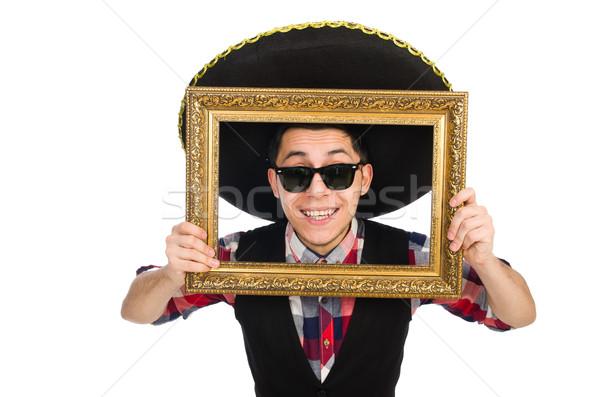 Vicces mexikói szombréró buli férfi klasszikus Stock fotó © Elnur