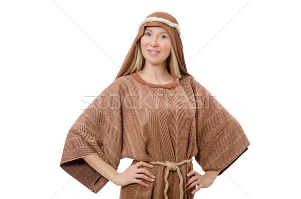 Woman in traditional arabian costume isolated on white Stock photo © Elnur