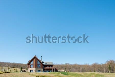 Modern house in bright summer day Stock photo © Elnur