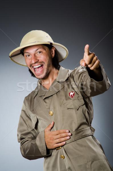 смешные Safari охотник пушки экране человек Сток-фото © Elnur