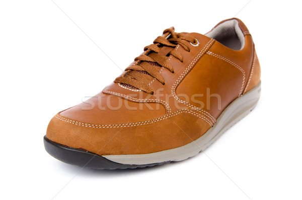 Male shoes isolated on white background Stock photo © Elnur