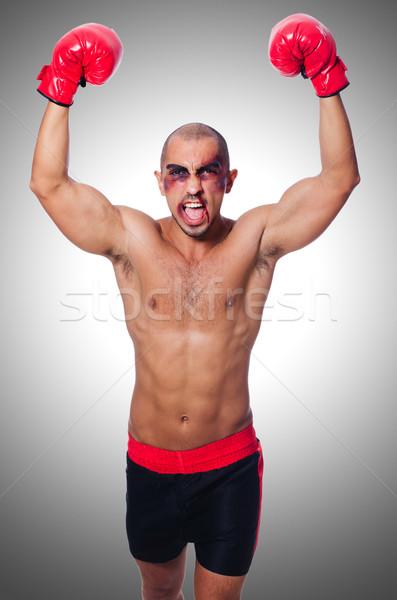 Badly beaten boxer isolated on white Stock photo © Elnur