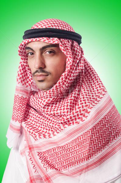 Diversity concept with arab on white Stock photo © Elnur