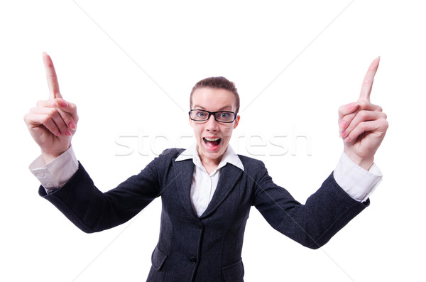 Angry businesswoman isolated on the white Stock photo © Elnur