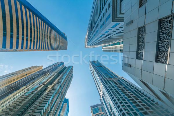 Alto Dubai marina arranha-céus negócio escritório Foto stock © Elnur