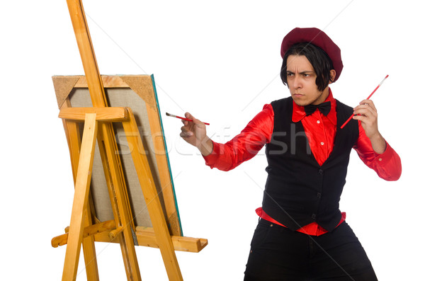 смешные художник изолированный белый работу студент Сток-фото © Elnur