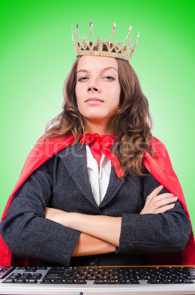 Office queen isolated on the white Stock photo © Elnur