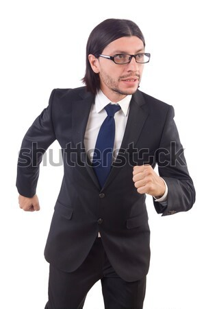 Businessman rushing isolated on the white background Stock photo © Elnur