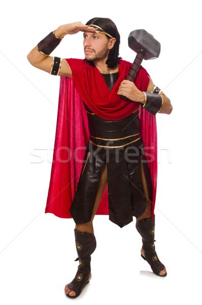 гладиатор молота изолированный белый человека фон Сток-фото © Elnur