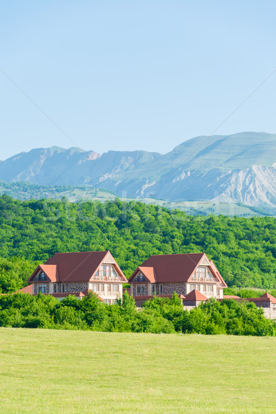 Summer landscape with mountains in Azerbaijan Stock photo © Elnur