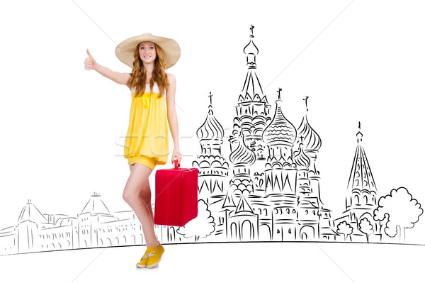 Young girl in concept of tourism to Russia Stock photo © Elnur