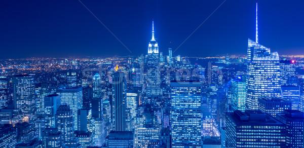 Görmek yeni Manhattan gün batımı iş gökyüzü Stok fotoğraf © Elnur