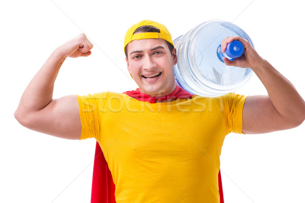 The man delivering water bottle isolated on white Stock photo © Elnur