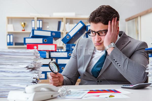Erkek işadamı ofis iş kâğıt Stok fotoğraf © Elnur