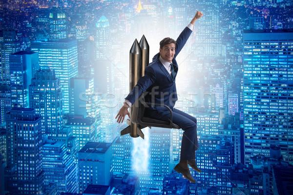 The businessman in career progression concept Stock photo © Elnur