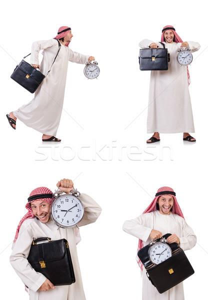 Emiraty człowiek czasu biały pracy tle Zdjęcia stock © Elnur