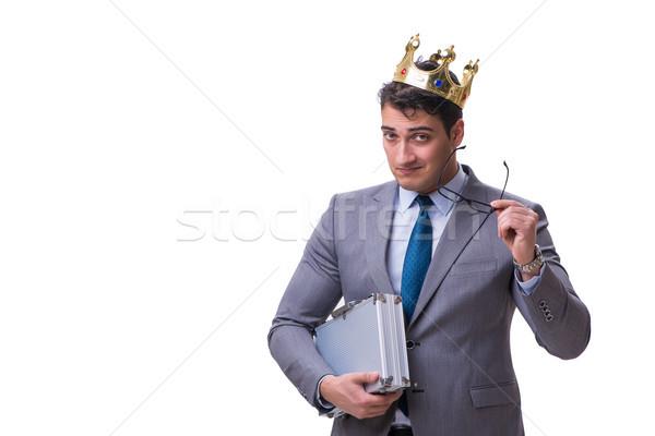 Rey empresario aislado blanco hombre trabajo Foto stock © Elnur