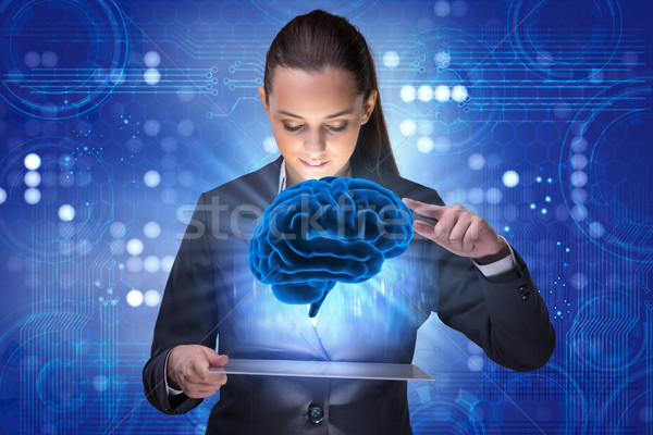 Businesswoman in artificial intelligence concept Stock photo © Elnur
