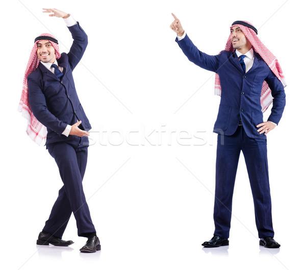 Set of photos with arab businessman Stock photo © Elnur