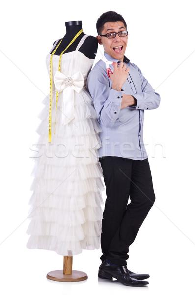 смешные мужчины портной белый девушки свадьба Сток-фото © Elnur
