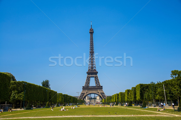 Eiffel tower on bright summer day Stock photo © Elnur