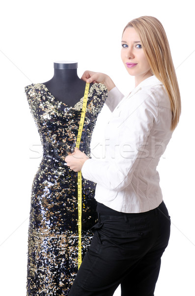 Female tailor isolated on the white background Stock photo © Elnur