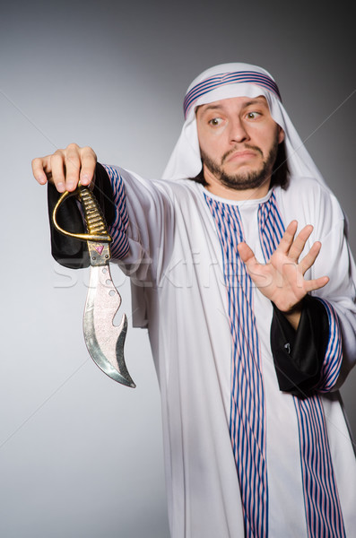 Arab man with sharp knife Stock photo © Elnur