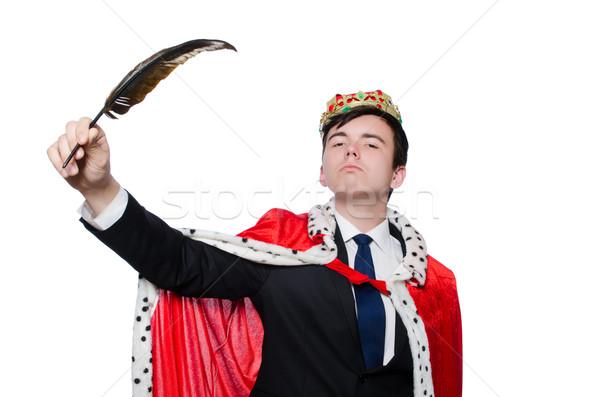 Króla biznesmen korony działalności człowiek pracy Zdjęcia stock © Elnur