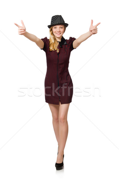 Nő gengszter izolált fehér lány kéz Stock fotó © Elnur