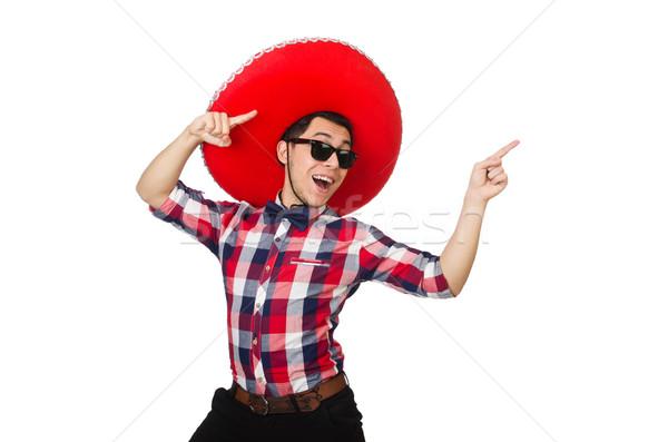 Divertente mexican sombrero faccia felice retro Foto d'archivio © Elnur