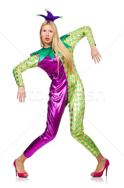 женщину · клоуна · костюм · изолированный · белый - Сток ... - photo#37