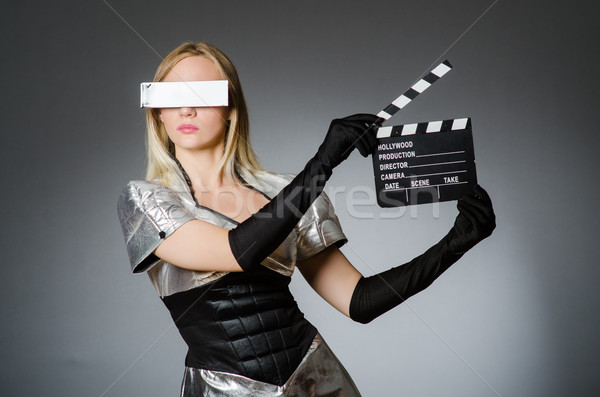 Tech woman in futuristic concept Stock photo © Elnur