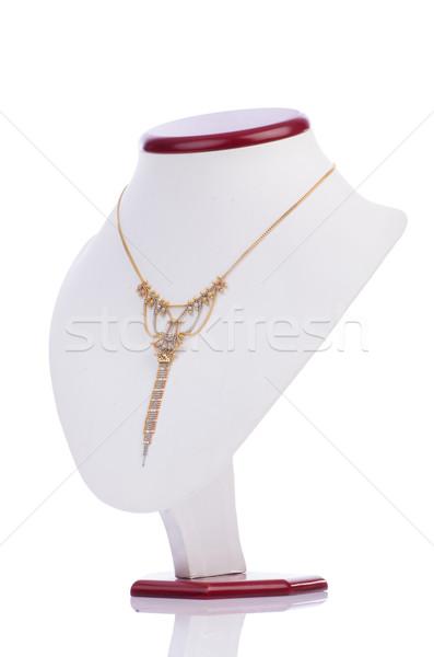 Bom colar isolado branco fundo metal Foto stock © Elnur