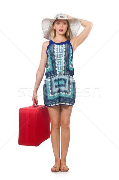Kobieta dziewczyna zabawy hat Zdjęcia stock © Elnur