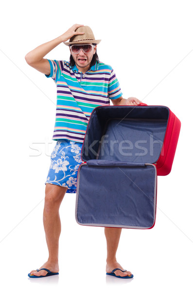 Reise Urlaub Gepäck weiß glücklich Hintergrund Stock foto © Elnur