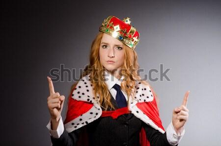 Mulher rainha empresária dinamite trabalhar empresário Foto stock © Elnur