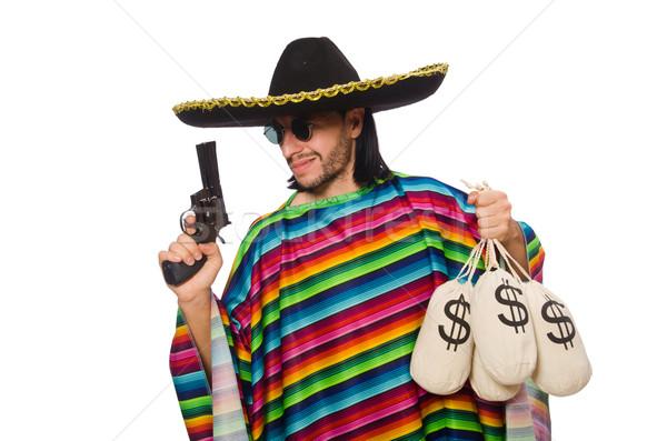 Mexikói tart fegyver pénz táska izolált Stock fotó © Elnur